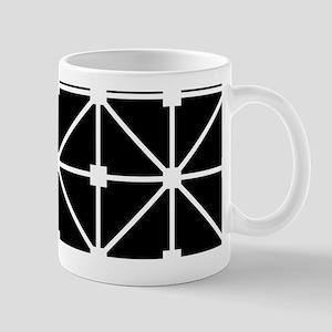 Black And White Grid Lattice Pattern Mug
