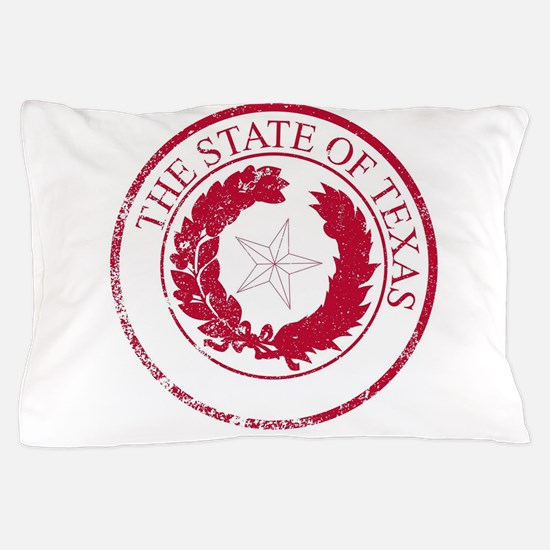 Texas State Rubber Stamp Seal Pillow Case