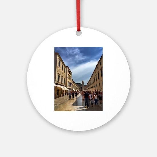 Downtown Dubrovnik - Croatia Round Ornament