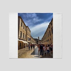 Downtown Dubrovnik - Croatia Throw Blanket