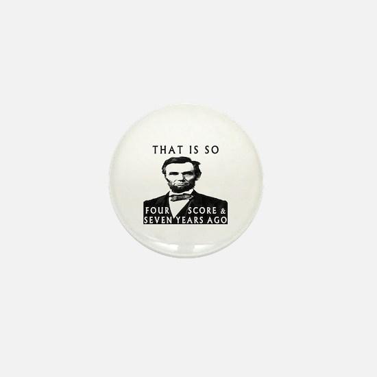 Abe Lincoln Mini Button