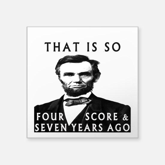 Abe Lincoln Sticker