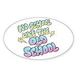 Old School Hip-Hop Oval Sticker