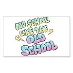 Old School Hip-Hop Rectangle Sticker