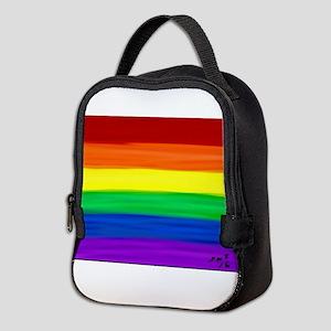 Gay rainbow art Neoprene Lunch Bag