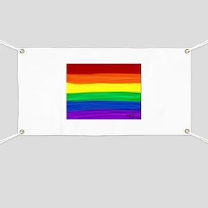 Gay rainbow art Banner