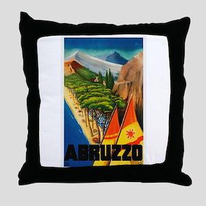 Abruzzo Italy - Vintage Travel Throw Pillow