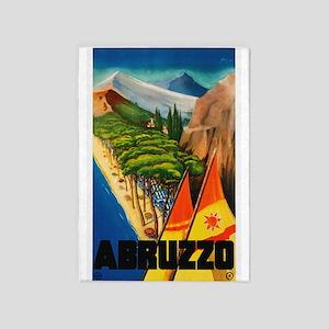 Abruzzo Italy - Vintage Travel 5'x7'Area Rug