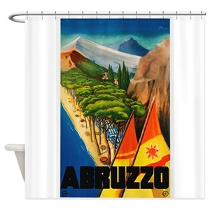 Vintage Italy Travel Shower Curtains