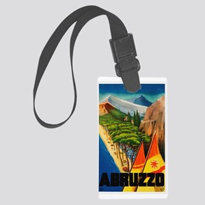Abruzzo Italy - Vintage Travel Luggage Tag