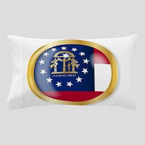 Georgia Flag Button Pillow Case