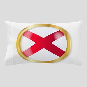 Alabama Flag Button Pillow Case