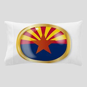 Arizona Flag Button Pillow Case