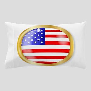USA Button Pillow Case
