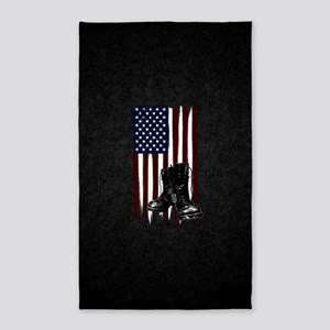 American Flag and Boots 3'x5' Area Rug