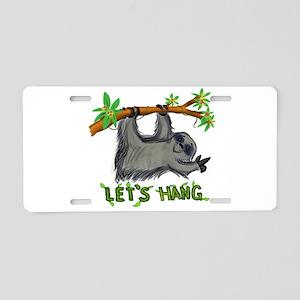 Let's Hang! Aluminum License Plate