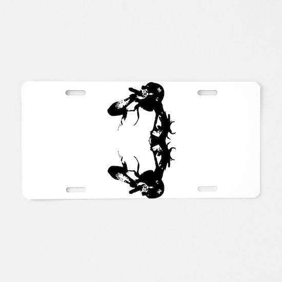 trap rap Aluminum License Plate
