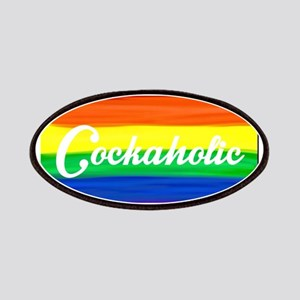 Cockaholic gay rainbow art Patch