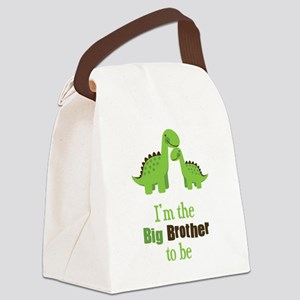 Dino Big Brother to Be Canvas Lunch Bag