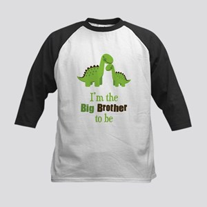 Dino Big Brother to Be Kids Baseball Jersey