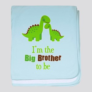 Dino Big Brother to Be baby blanket
