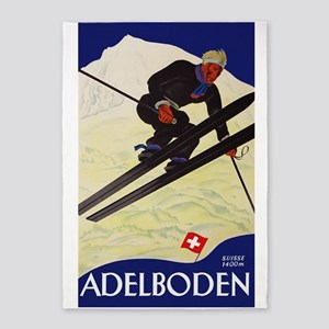 Adelboden Switzerland - Swiss Alps Ski Travel 5'x7