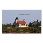 Copper Harbor Lighthouse Sticker