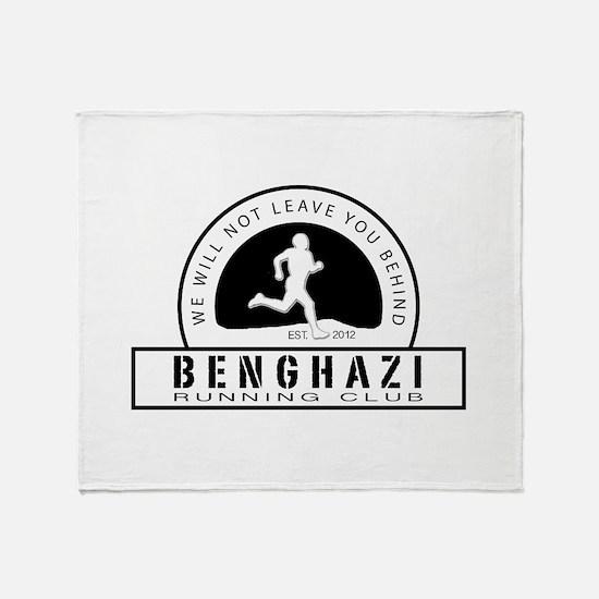 Benghazi Running Club Throw Blanket
