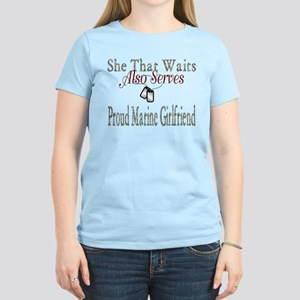 proud marine girlfriend Women's Light T-Shirt