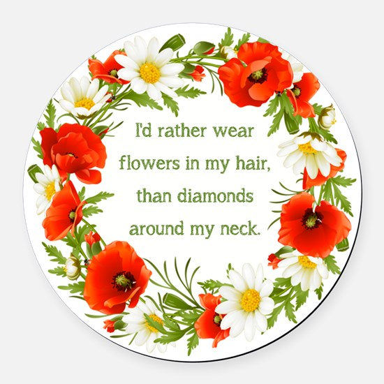I'D RATHER WEAR... Round Car Magnet