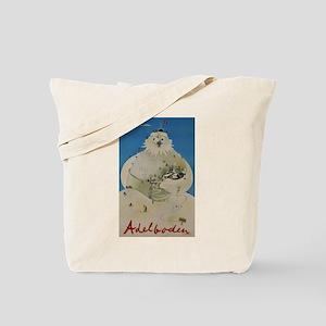 Adelboden Switzerland - Snowman Travel Tote Bag