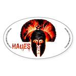 Hades , the god of the underworld Sticker Oval