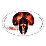 Hades , the god of the underworld Sticker Oval