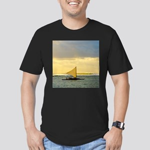 Tropical Sunset Sail a Men's Fitted T-Shirt (dark)