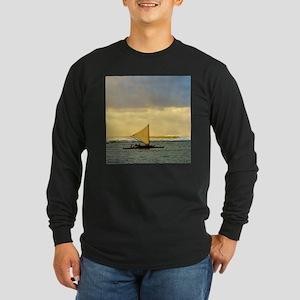 Tropical Sunset Sail and Long Sleeve Dark T-Shirt