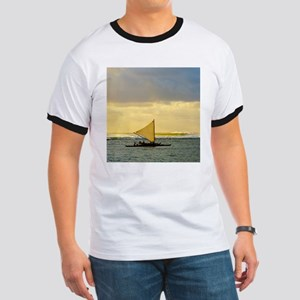 Tropical Sunset Sail and Surf Ringer T