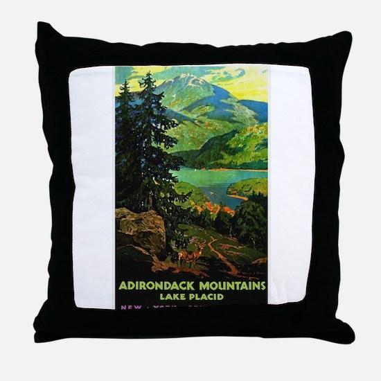 Adirondack Mountains Lake Placid N.Y. Throw Pillow