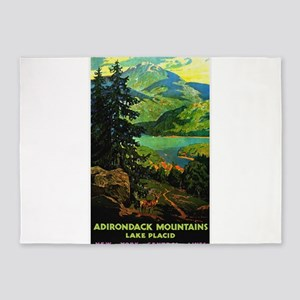 Adirondack Mountains Lake Placid N.Y. 5'x7'Area Ru