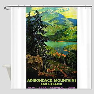 Adirondack Mountains Lake Placid N.Y. Shower Curta