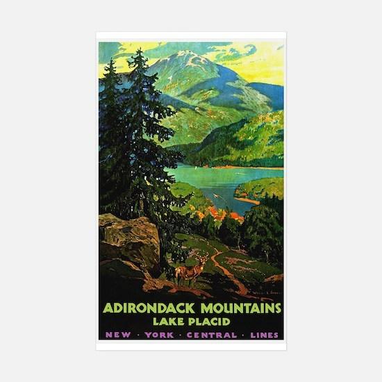 Adirondack Mountains Lake Placid N.Y. Decal