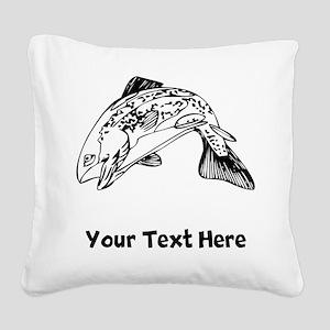 Salmon (Custom) Square Canvas Pillow