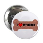"I LOVE MY BOXER 2.25"" Button (100 pack)"