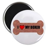 "I LOVE MY BOXER 2.25"" Magnet (100 pack)"