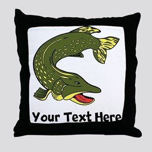Northern Pike (Custom) Throw Pillow