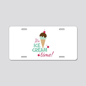 Ice Cream Time Aluminum License Plate