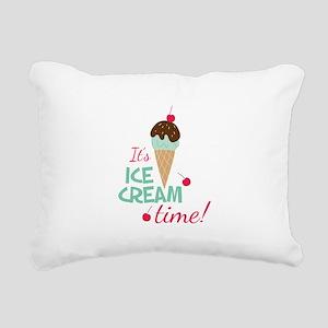 Ice Cream Time Rectangular Canvas Pillow
