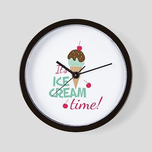 Ice Cream Time Wall Clock