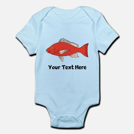 Red Snapper Fish (Custom) Body Suit