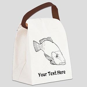 Snapper Fish (Custom) Canvas Lunch Bag