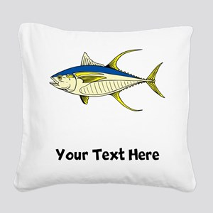 Tuna Fish (Custom) Square Canvas Pillow
